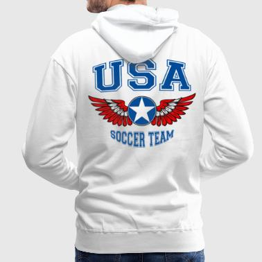 USA soccer team - Sweat-shirt à capuche Premium pour hommes