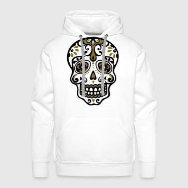 Sugar Skull, Mexico, flowers, day, dead, pirate,  - Men's Premium Hoodie