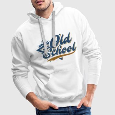 Old School - Sweat-shirt à capuche Premium pour hommes