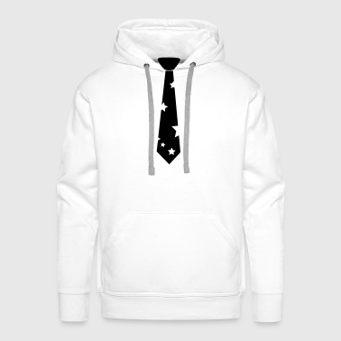 Black tie with stars - Men's Premium Hoodie