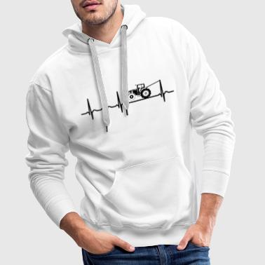 Heartbeat tractor pulling shirt Trecker Treck Cool - Mannen Premium hoodie