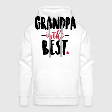 Grandpa is the best - Men's Premium Hoodie