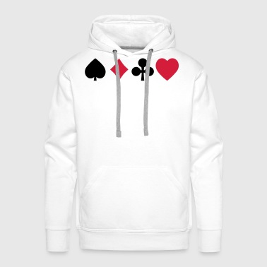 playing cards cartes à jouer - Sweat-shirt à capuche Premium pour hommes