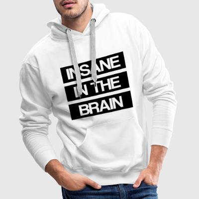 Insane in the Brain gamle skolen - Premium hettegenser for menn