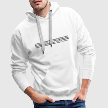 Binary Code Can you read this? - Men's Premium Hoodie