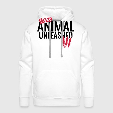Wild animal unleashed - Men's Premium Hoodie