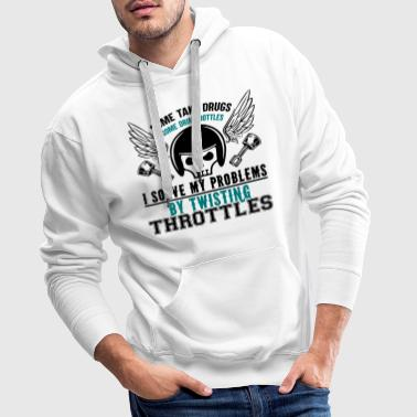 Rider motorcycle solve the problems - Men's Premium Hoodie