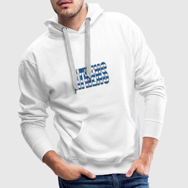 Athens Greece Flag - Men's Premium Hoodie