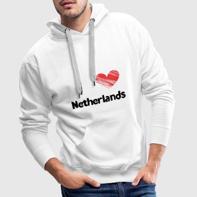 I love Netherlands - Men's Premium Hoodie