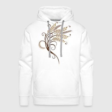 Filigree grain ears, baker, bakery - Men's Premium Hoodie