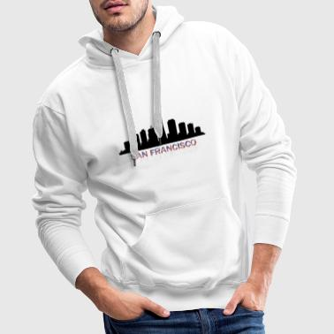 San Francisco skyline - Premium hettegenser for menn