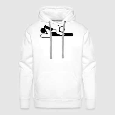 A couple in 69 position - Men's Premium Hoodie