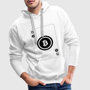 Bitcoin Playcard playing card - Men's Premium Hoodie