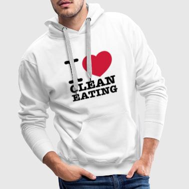 i love clean eating - Men's Premium Hoodie