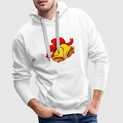 christmas christmas bow bells bell bow - Men's Premium Hoodie