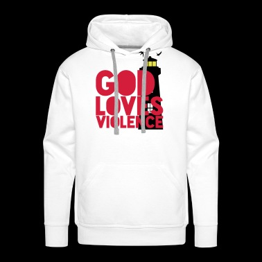 God loves Violence! Shutter Island movie quote - Men's Premium Hoodie