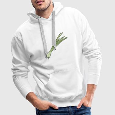 Small leek, onion with roots - Men's Premium Hoodie
