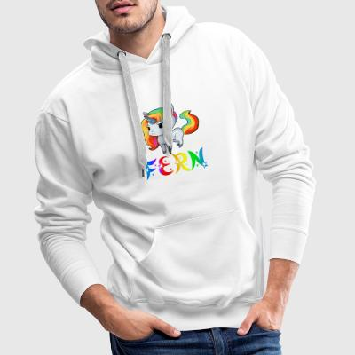 à distance Unicorn - Sweat-shirt à capuche Premium pour hommes