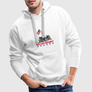 This is My Fraternity American Flag T-shirt - Männer Premium Hoodie