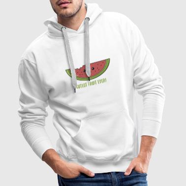 Watermelon funny gift laugh summer fruit - Men's Premium Hoodie