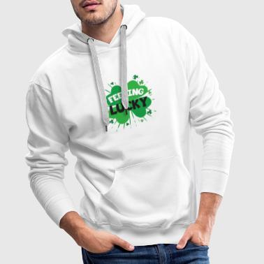 Feeling Lucky Awesome Shirt - Sweat-shirt à capuche Premium pour hommes