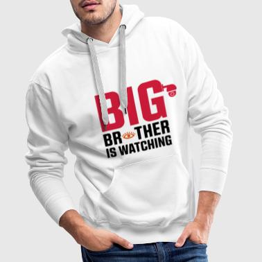 BIG BROTHER IS WATCHING YOU CCTV ILLUMINATI - Männer Premium Hoodie