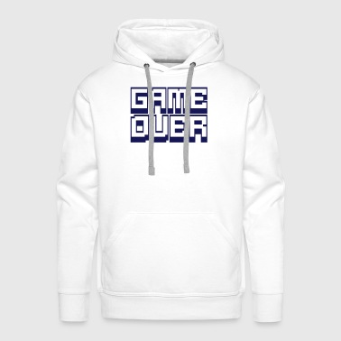 game over - Bluza męska Premium z kapturem