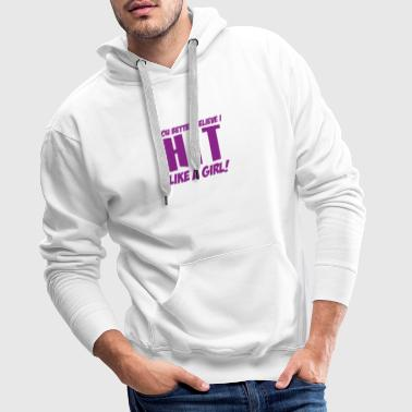 Volleyball hit like a girl - Men's Premium Hoodie