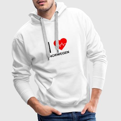 I Love Norway - I love Norway - Men's Premium Hoodie