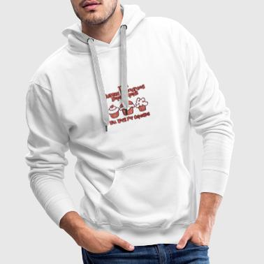 HRD wants work for cupcakes - Men's Premium Hoodie