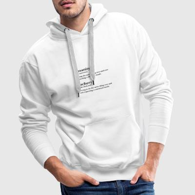 Insanity is Archery - Men's Premium Hoodie