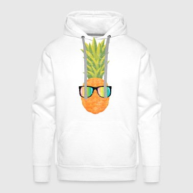Pineapple With Rainbow Sunglasses | Cool 80s Style Långärmade T-shirts baby - Premiumluvtröja herr