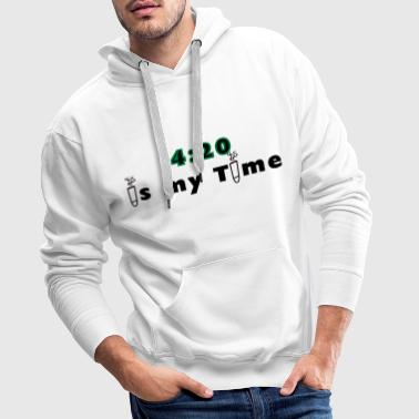 420 is my time grass cannabis gift idea - Men's Premium Hoodie