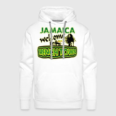 jamaica welcome to trench town - Premiumluvtröja herr