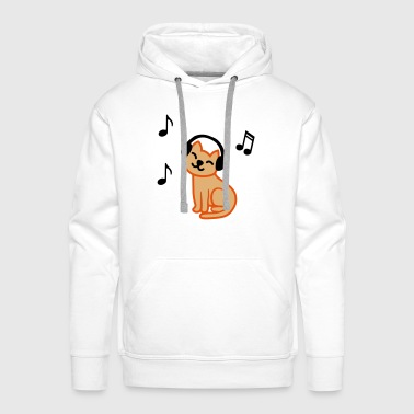music_cat_color - Sweat-shirt à capuche Premium pour hommes