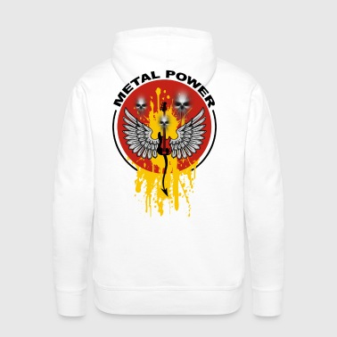 metal power - Sweat-shirt à capuche Premium pour hommes