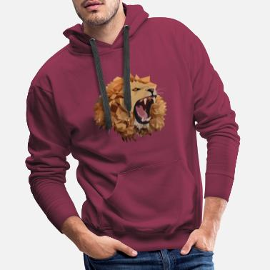 Polygon polygon lion - Men's Premium Hoodie