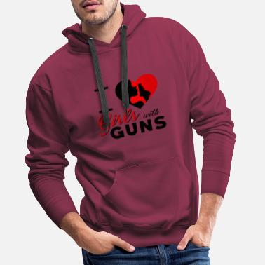 Gun Girl Girl with pistols Girls Guns - Men's Premium Hoodie