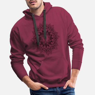 Flower wreath - black - Men's Premium Hoodie
