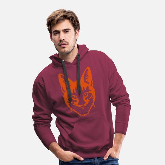 Chaton Sweat-shirts - chat animal domestique 507 - Sweat à capuche premium Homme bordeaux