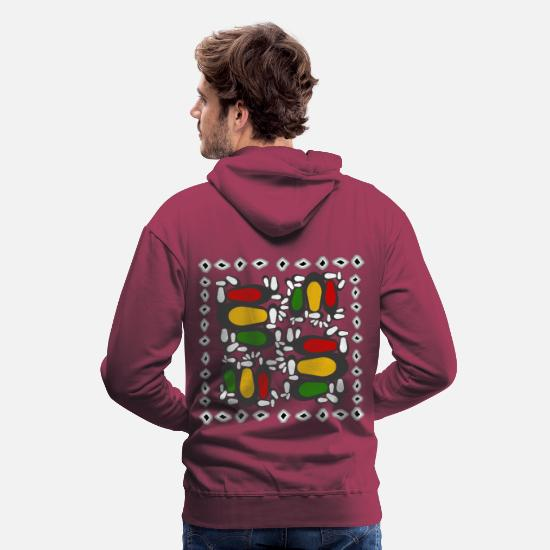 Rasta Hoodies & Sweatshirts - reggae steps - Men's Premium Hoodie bordeaux