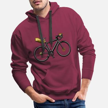 Bike Velo Gravel cintre tordu bicolore - Sweat à capuche premium Homme