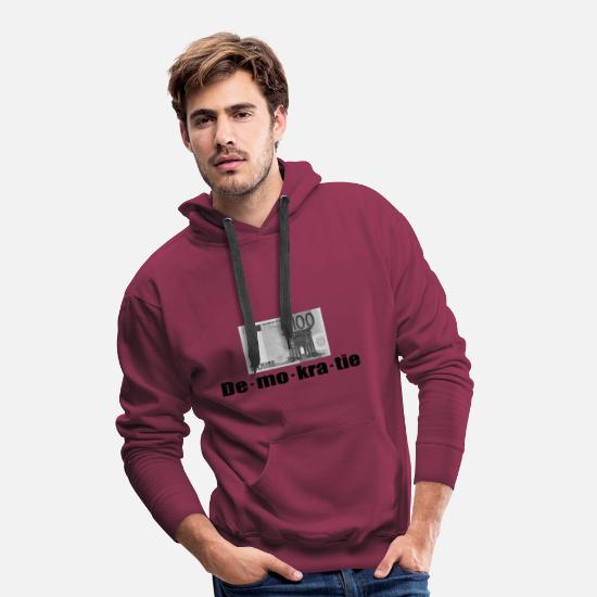 New World Order Hoodies & Sweatshirts - sham democracy - Men's Premium Hoodie bordeaux