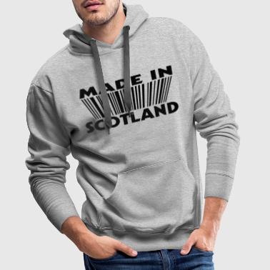 Made in Scotland 3D code - Sweat-shirt à capuche Premium pour hommes