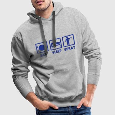 Eat Sleep Spray Graffiti Design - Männer Premium Hoodie