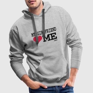 my girlfriend loves me by wam - Sweat-shirt à capuche Premium pour hommes