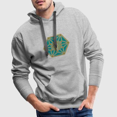 Cuboctahedron, structure of the universe, Fuller - Men's Premium Hoodie