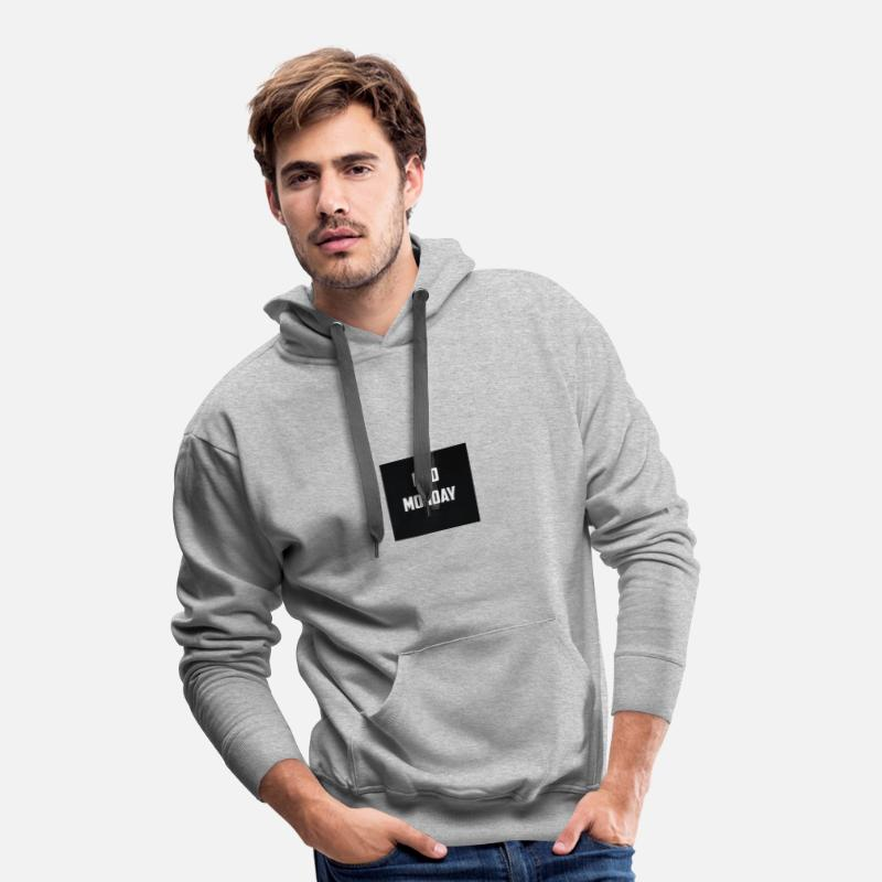 Lundi Sweat-shirts - BAD MONDAY - Sweat à capuche premium Homme gris chiné