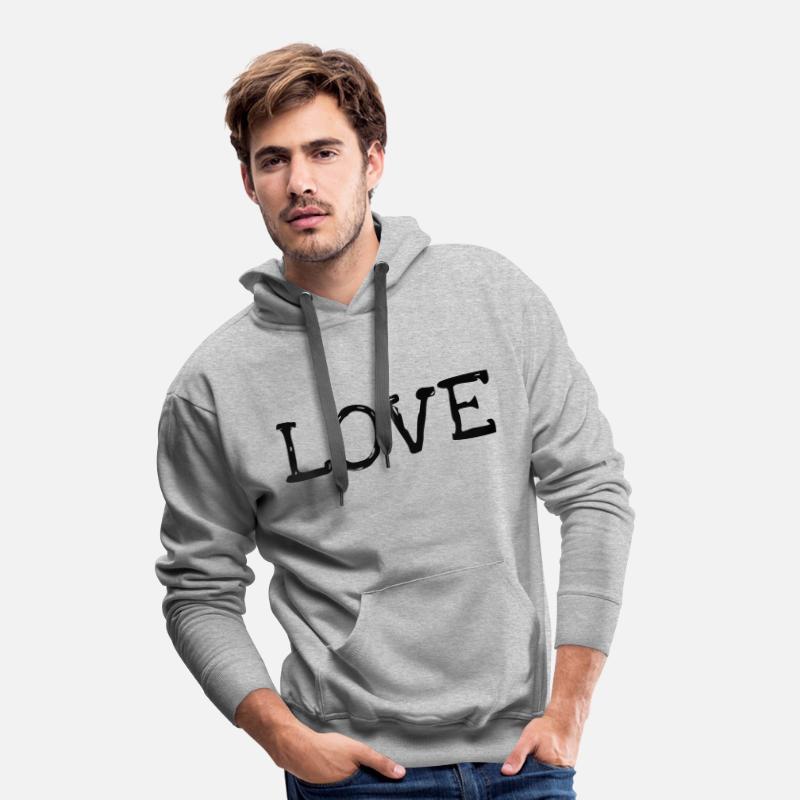 love liebe valentinstag geschenk freund geburtstag m nner premium hoodie spreadshirt. Black Bedroom Furniture Sets. Home Design Ideas