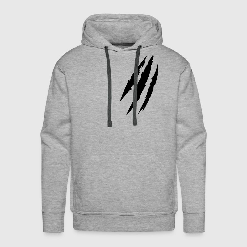 Beast animal scratches claw marks blood scars - Men's Premium Hoodie